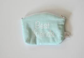 """Portemonnee mint  """"best friends"""""""