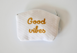 "Portemonnee wit  ""good vibes"""