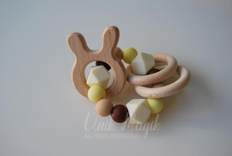 Rammelaar konijn ecru & bruin