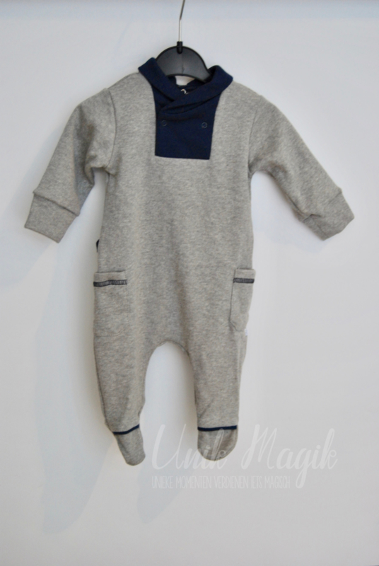 "Baby pyjama "" Phineas"" soft grey/navy blue"