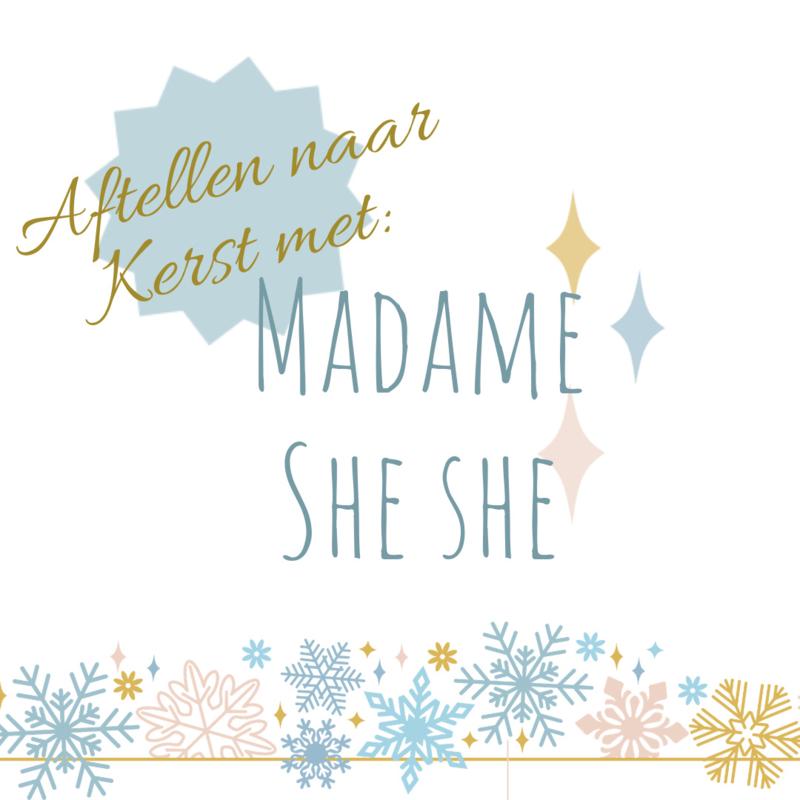 Aftellen naar Kerst met madame She She - nog 2 weken