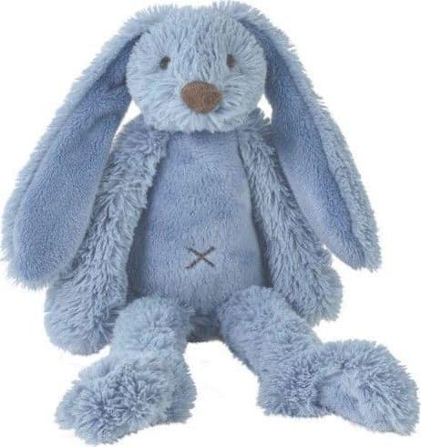 Knuffel konijn Richie donkerblauw