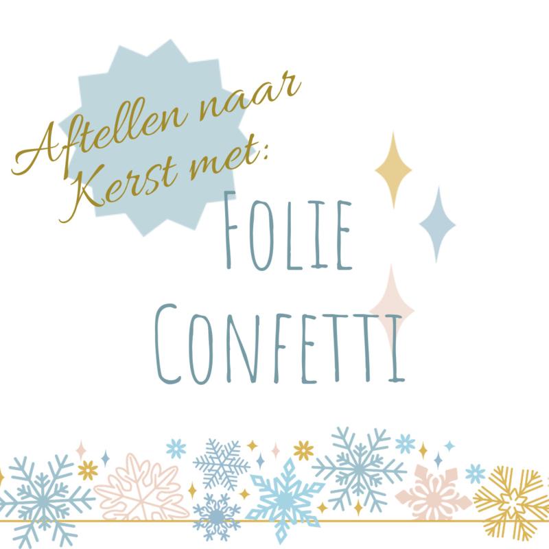 Aftellen naar Kerst met Folie Confetti - nog 4 weken