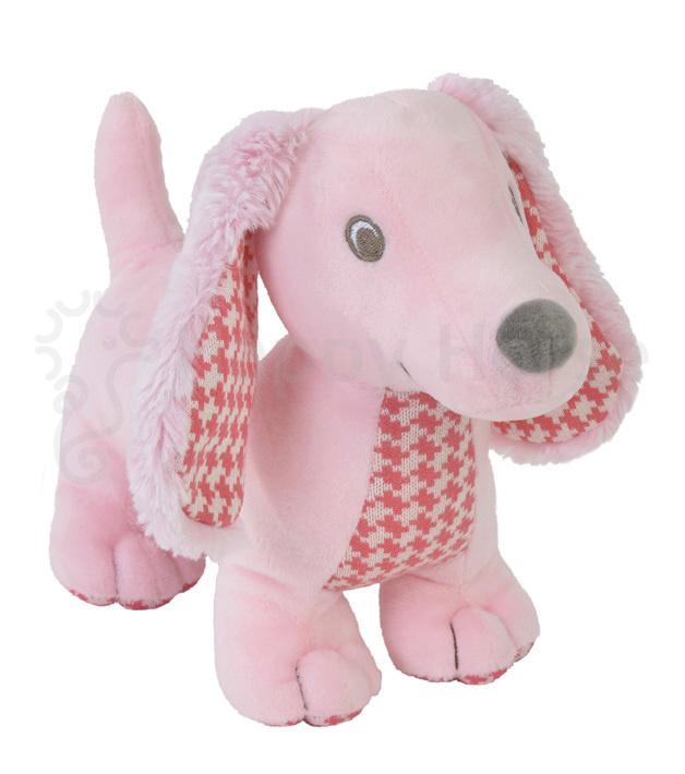 Knuffel Dashond Dex roze