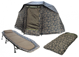 Zfish Camou Set Brolly+Bedchair+Sleeping bag