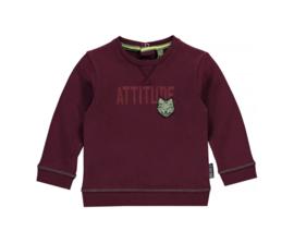 Quapi sweater Vikten Aubergine