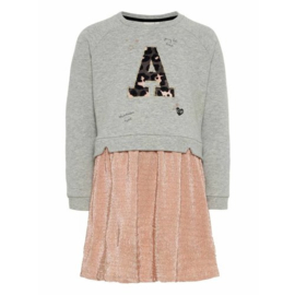 NAME IT NMFSALOURA LS SWEAT DRESS BRU