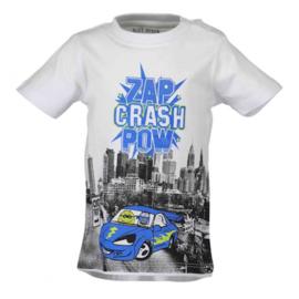 Blue Seven shirt Zap Crash
