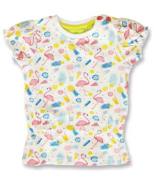 Lemon Beret shirt flamingo optical white