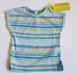 Lemon Beret Shirt Stripe Cool Blue
