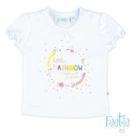 Feetje shirt Rainbow White