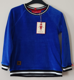 Br@nd Sweater Velours Cobalt