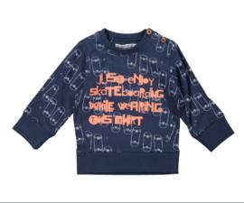 Dirkje Sweater Navy AOP mt 80