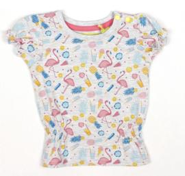 Lemon Beret shirt flamingo grey melange