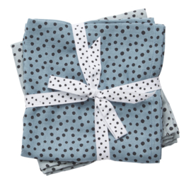 Done By Deer Burp Cloth Happy Dots  2-pack - Blue