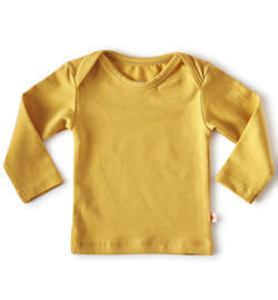 Little Label Baby Shirt LM Uni Golden Yellow