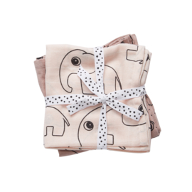Done By Deer Burp Cloth  2-Pack Contour - Powder