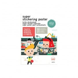 Makii Super Stickering Poster Verkeer