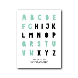 IJSWIT Poster Alfabet mint