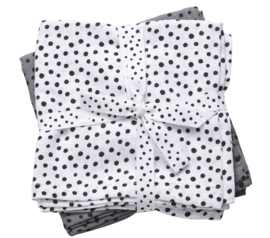 Done By Deer Burp Cloth Happy Dots  2-Pack - Grey