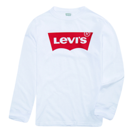 Levis Batwing Tee Shirt Long Sleeve Wit