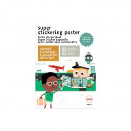 Makii Super Stickering Poster Vliegveld