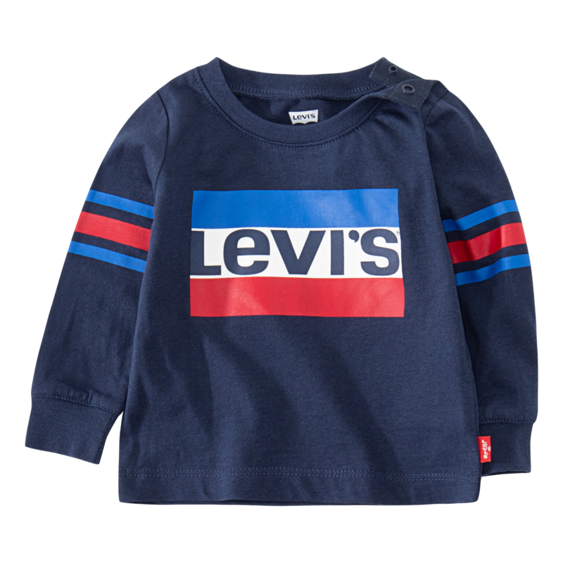 Levis Geoffrey Long Sleeve Tee Blue