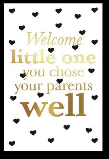 Kaart 'welcome little one'