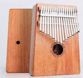 Kalimba (duimpiano) van mahoniehout