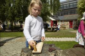 Houten sorteer tray (voor 5 pebbles)