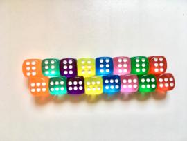 "6-kantige (""gewone"") dobbelstenen (SET van 10 st.)"
