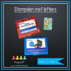 Stempelen met letters