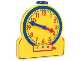 Instructieklok analoog en digitaal - 24 uurs notatie (XL: 32 cm)