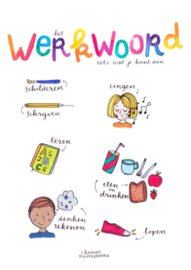 A3 poster - Taal - het Werkwoord