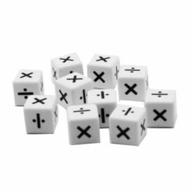Reken dobbelstenen: keer en delen (per st. of per 10)