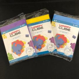 Happy Cube Original - set van 3 (paars, blauw, geel)