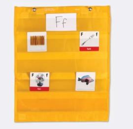 Magnetische hangtas met transparante pockets