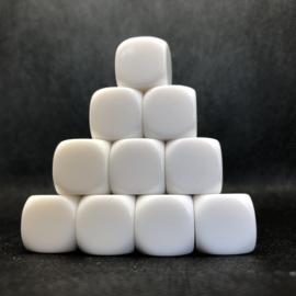 Blanco dobbelstenen, 6 kantig (SET van 10 st.)