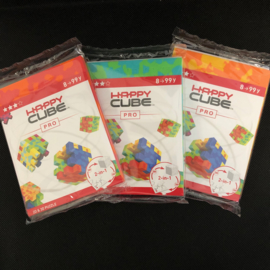 Happy Cube Pro - set van 3 (rood, groen, oranje)