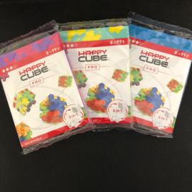 Happy Cube Pro - set van 3 (paars, blauw, geel)