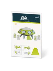 Papieren speelfiguren - Ufo