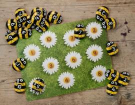 Honingbijen - telstenen/pebbles en opdrachtkaarten