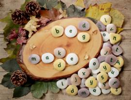 Pebbles/stenen - alfabet (kleine letters) (26 stuks)
