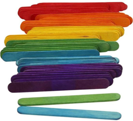S&L Knutselstokjes / ijsstokjes (6 kleuren) 250 stuks