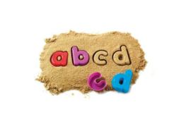 Zand vormen alfabet - kleine letters