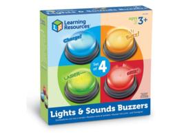Antwoord buzzers met licht en geluid (set van 4)