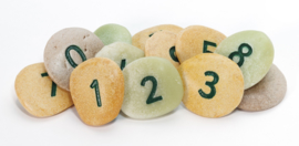 Pebbles/stenen -  cijfers 0-10 (22 stuks)