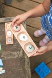 Houten sorteer tray (voor 3 pebbles)