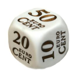 Reken dobbelstenen: euro's en centen (SET van 2 st.)