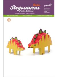 Papieren speelfiguren Maxi - Stegosaurus